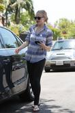 Amanda Seyfried and her boyfriend leaving a personal trainers house in West Hollywood.