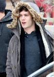 Adam Brody Celebrities leaving a screening of 'The...