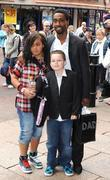 Simon Webbe and family Shrek Forever After -...