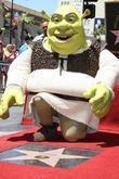 Shrek is honoured with the 2408th star on the Hollywood Walk of Fame