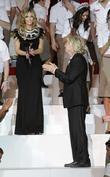 Delta Goodrem and Richard Branson
