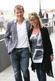 Kate Garraway and Ben Shephard walking along the...