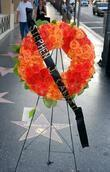 Stephen J. Cannell's star is laid with a...