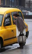 Natalie Cassidy Hails A Taxi