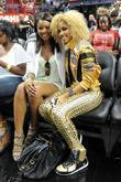 Gabrielle Union and K. Rose appear at the 'Zo's Summer Groove' charity basketball game at the American Airlines Arena