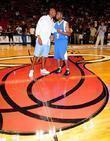 Alonzo Mourning and Dwayne Wade at the 'Zo's...