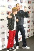 Justin Bieber and Johnny Vaughn