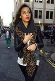 Rochelle Wiseman of The Saturdays out and about...