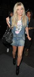Mollie King from girl group The Saturdays, arriving...