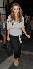 Una Healy from girl group The Saturdays, leaving...
