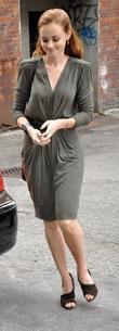 Alexis Bledel arriving at press conference for movie...
