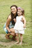 Ali Landry and daughter Estela Ines