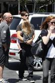 Tobey Maguire and his daughter Ruby Sweetheart leaving Fred Segal in West Hollywood
