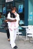 Tyrese Gibson and Daughter Shayla Stop By A Self-serve Frozen Yogurt Shop In Beverly Hills