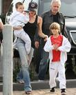 Victoria Beckham with her sons Cruz Beckham and...