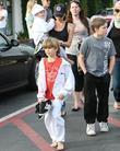 Victoria Beckham with her sons Cruz Beckham, Romeo...