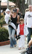 Victoria Beckham with her sons Cruz and Romeo...