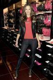 Alessandra Ambrosio attends the grand opening of Victoria's...