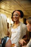 'Top Chef New York' contestant Carla Hall at the opening of a new family run restaurant We the Pizza.