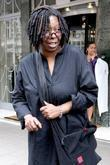 Whoopi Goldberg leaving Claridges hotel wearing a black...