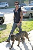 Lorenzo Lamas and his dog