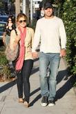 Ali Fedotowsky and Roberto Martinez walking in Beverly...