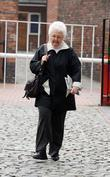 Stephanie Cole leaving the Granada Studios after filming...