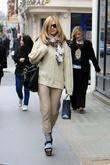 Fearne Cotton leaving the BBC Radio One Studios...