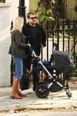 James Corden and his partner Julia Carey go...