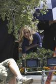 Anna Paquin on the set of True Blood...