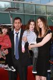 Adam Sandler with his wife and children Adam...