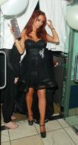 Amy Childs  leaving her 21st birthday party...