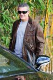 Antonio Banderas leaving Uno salon after having his...
