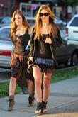 Audrina Patridge and sister Casey filming a scene...
