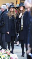 Samia Smith and Jennie McAlpine  The funeral...