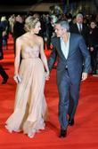 Stacy Keibler, George Clooney and Odeon Leicester Square