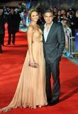 George Clooney, Stacy Keibler and Odeon Leicester Square