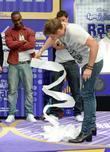 Lee Ryan Blue compete to break a Guinness...