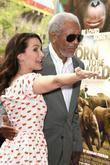 Kristin Davis and Morgan Freeman