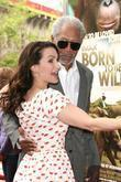 Kristin Davis and Morgan Freeman