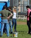 Britney Spears and Johnny Knoxville Britney Spears filming...