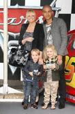 Emma Bunton; Jade Jones and their son Beau...