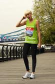 Agyness Deyn Celebrity runners for the London Marathon...