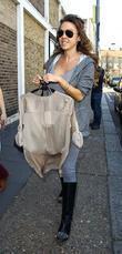 Adele Silva Celebrities arriving at the studio to...