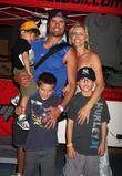 Joshua Morrow with his wife Tobe and their...