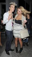 Harry Derbidge and Samantha Faiers leaving Runway nightclub....
