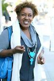 CCH Pounder leaves Villa Blanca in Beverly Hills...