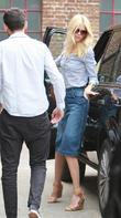 Claudia Schiffer arrives at a photoshoot in north...