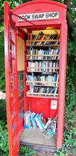 a book swap phonebox near the new home of matthew v