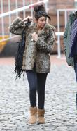 Michelle Keegan leaves the 'Coronation Street' set Manchester,...